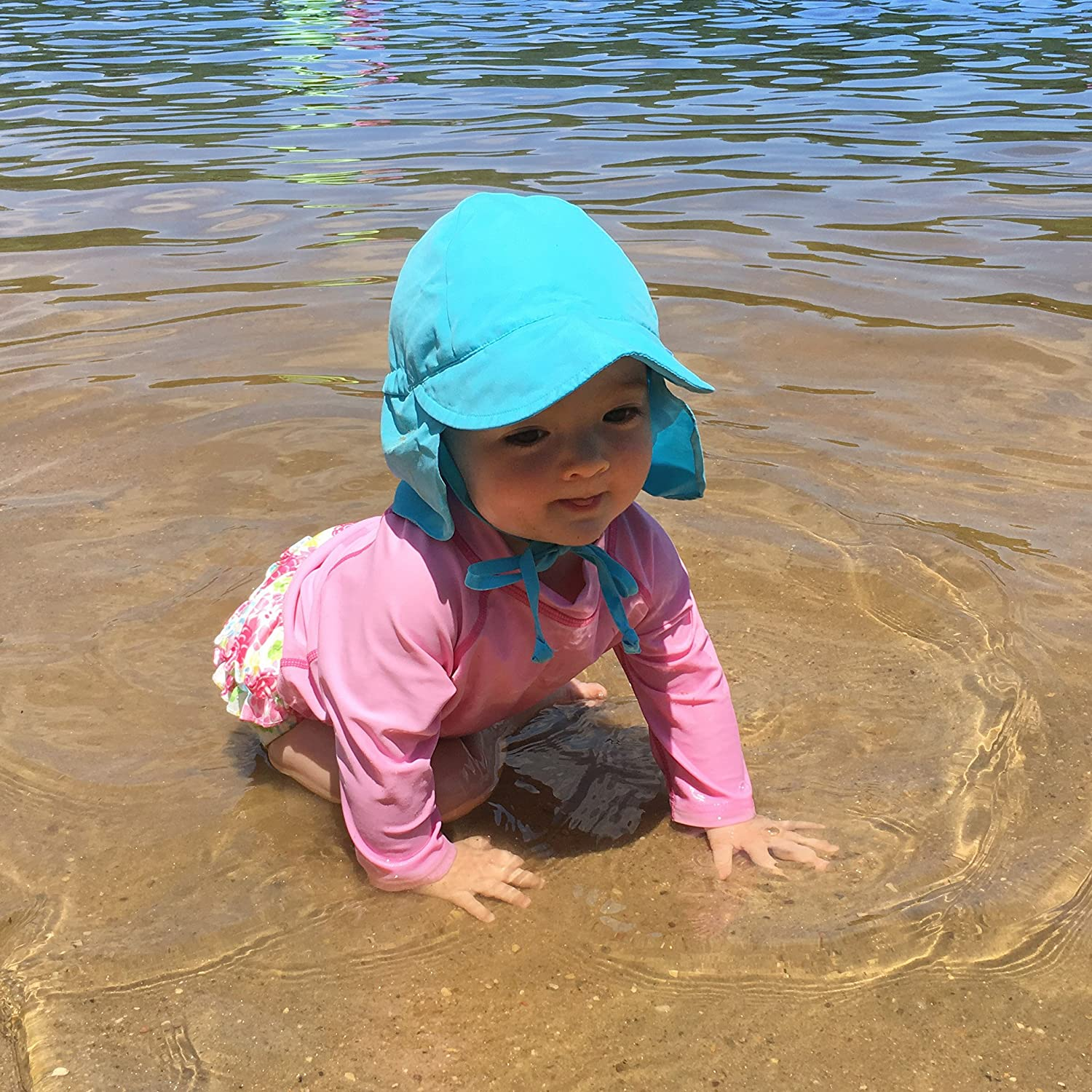 I-Play Baby Flap Sun Protection Swim Hat 0-6 Months Lime