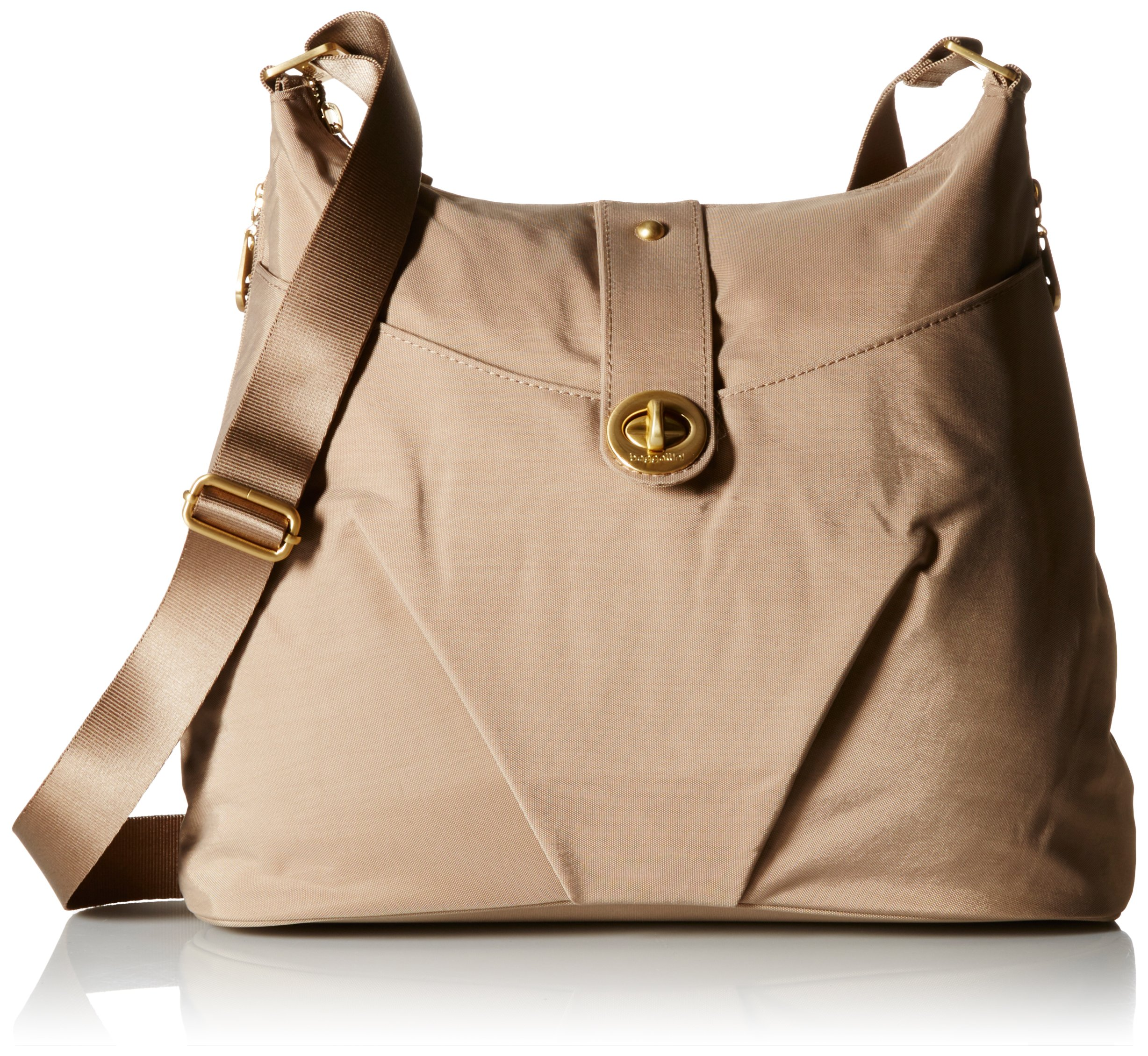 Baggallini Helsinki Travel Tote, Gold Hardware, Beach