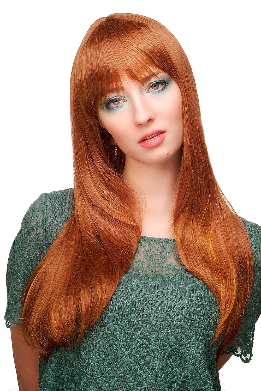WIG ME UP ® - Peluca femenina, marrón rojizo, largo 3115-30H144 VK Event Fashion 3115-30H144(141)