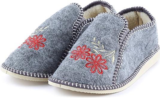 Ladeheid Pantuflas de Invierno Zapatillas Casa de Fieltro Mujer PFF084
