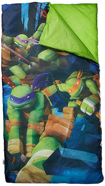 Las Tortugas Ninja Teenage Mutant Ninja Tortuga Saco de Dormir/Saco de Dormir con Almohada