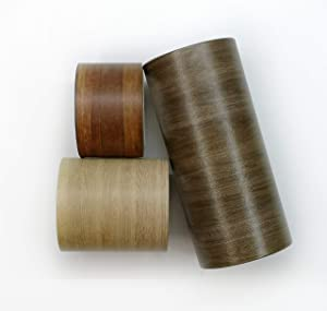 Wood Grain washi Tape Set of 3 Rolls. INCL Extra Wide & Extra Long Tapes. Ideal to use as Temporary Wall Paper Borders, Party Decorations, scrapbooks, and Gift Wrapping.