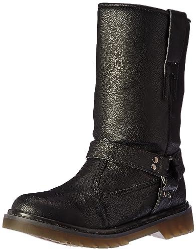 7573fcb503c Demonia Women's Riv303/Bpu Boot, Black Vegan Leather, 10 M US: Buy ...