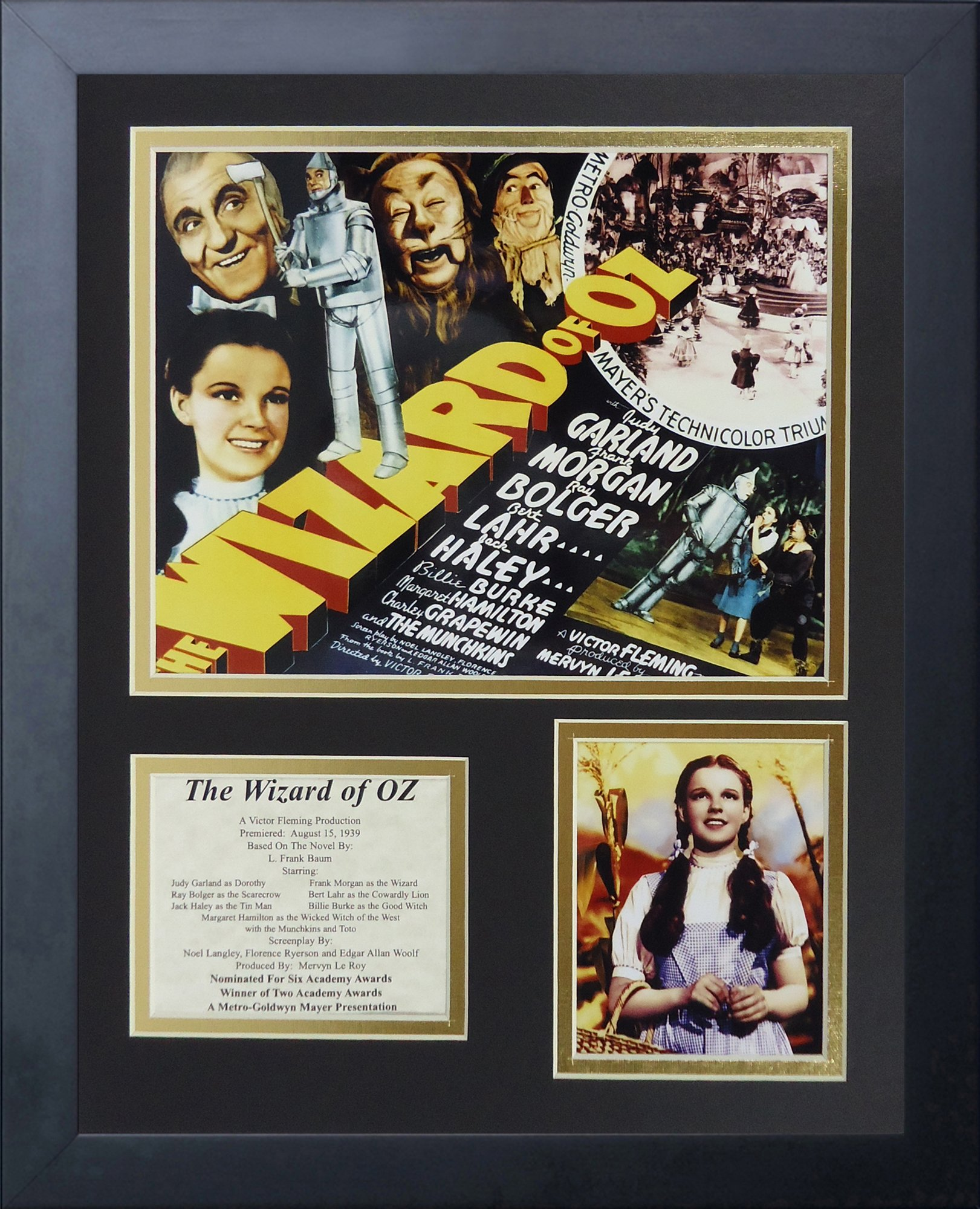 Legends Never Die Wizard of Oz Movie Art Framed Photo Collage, 11x14-Inch