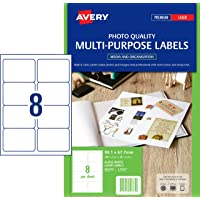 Avery Glossy Photo Quality Multi-Purpose Labels for Laser Printers, 99.1 x 67.7 mm, 200 Labels (959765 / L7765)