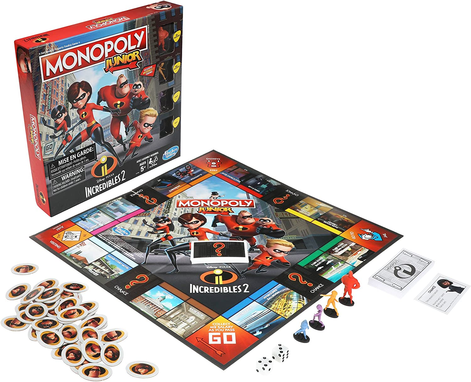 Hasbro Monopoly Junior - The Incredibles 2: Amazon.es: Juguetes y juegos