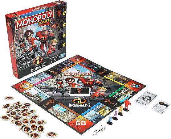 Hasbro Monopoly Junior - The Incredibles 2: Amazon.es: Juguetes y juegos