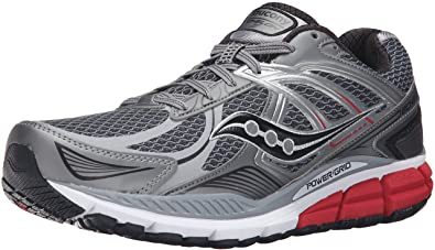 big sale f5c5d 9f43f Saucony Mens Echelon 5 Running Shoe, GreyRedBlue, ...