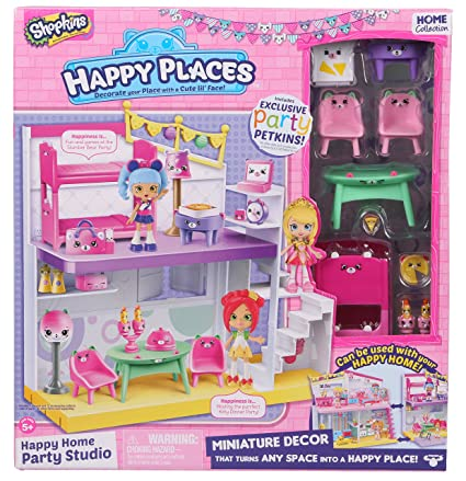 amazon com happy places shopkins happy home party studio playset