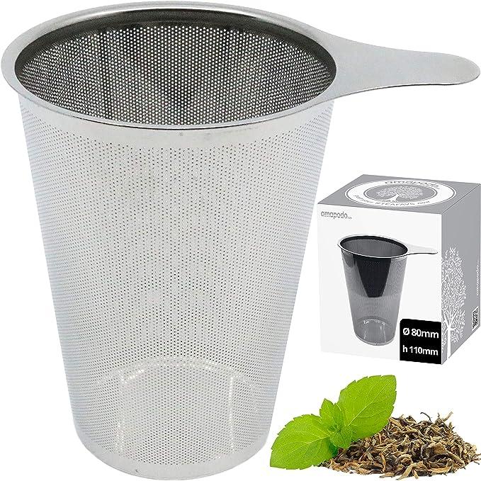 Bredemeijer Teeglas groß mit Deckel mit Sieb Teebereiter mit Edelstahl Tee-Sieb