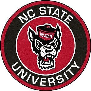 FANMATS NCAA North Carolina State Wolfpack Universityroundel Mat, Team Color, One Size