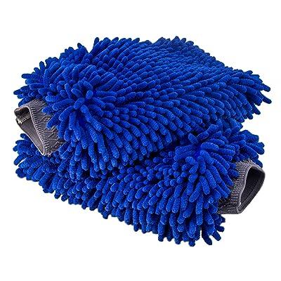 Relentless Drive Ultimate Car Wash Mitt - 2 Pack Extra Large Size - Premium Chenille Microfiber Wash Mitt - Wash Glove - Lint Free - Scratch Free: Automotive
