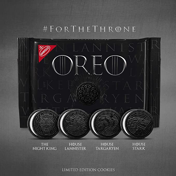 New Game of Thrones Oreo Cookies LIMITED EDITION 15.25oz In HAND NEW 1 Package