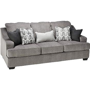 Amazon.com: Benchcraft - Aldie Nuvella Contemporary Sofa ...