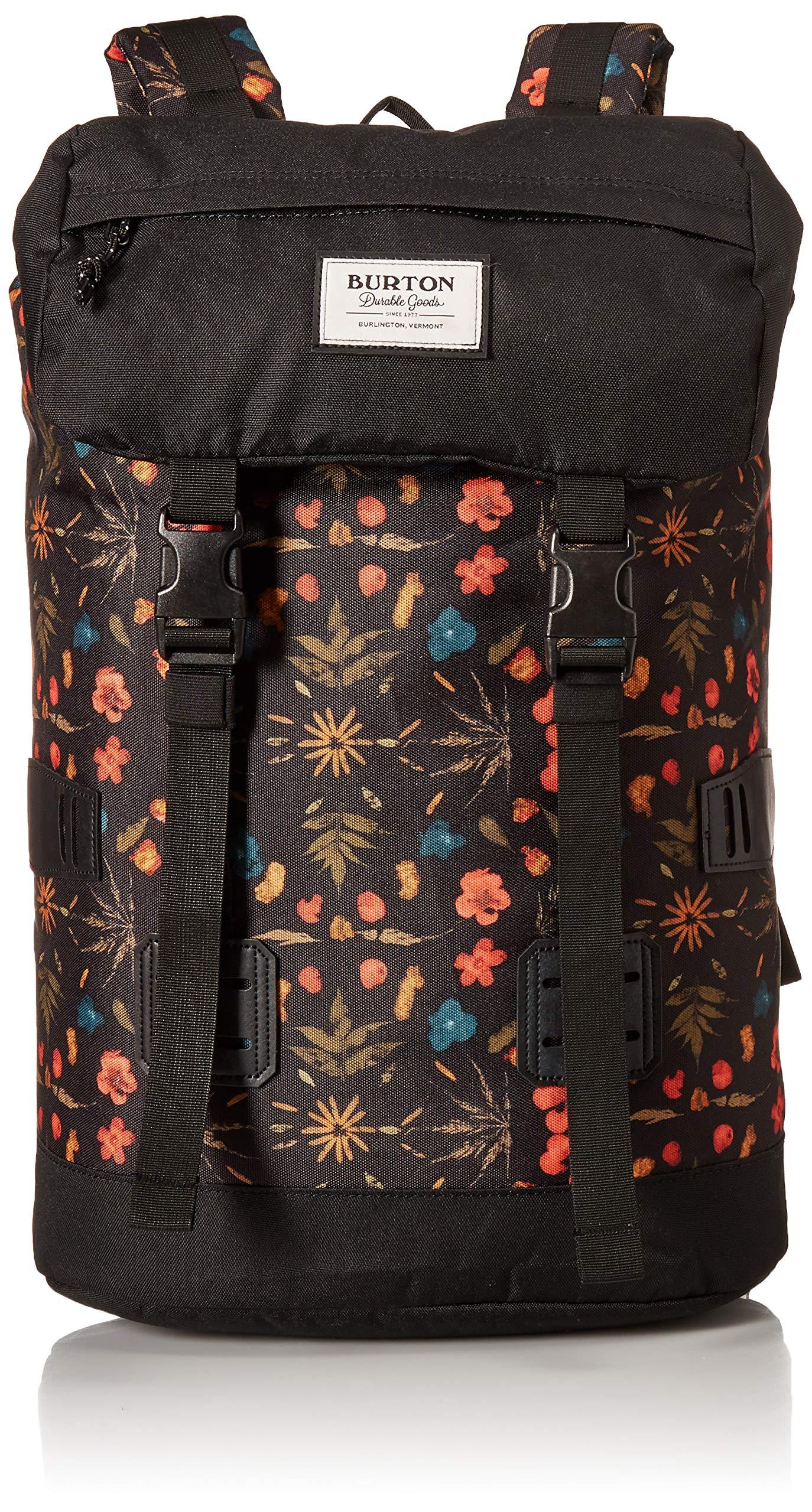 Burton Tinder Backpack, Black Fresh Pressed Print