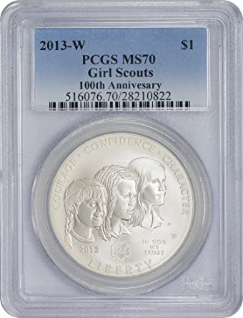2013-W $1 Girl Scouts of the USA Commemorative Silver Dollar in OGP BU