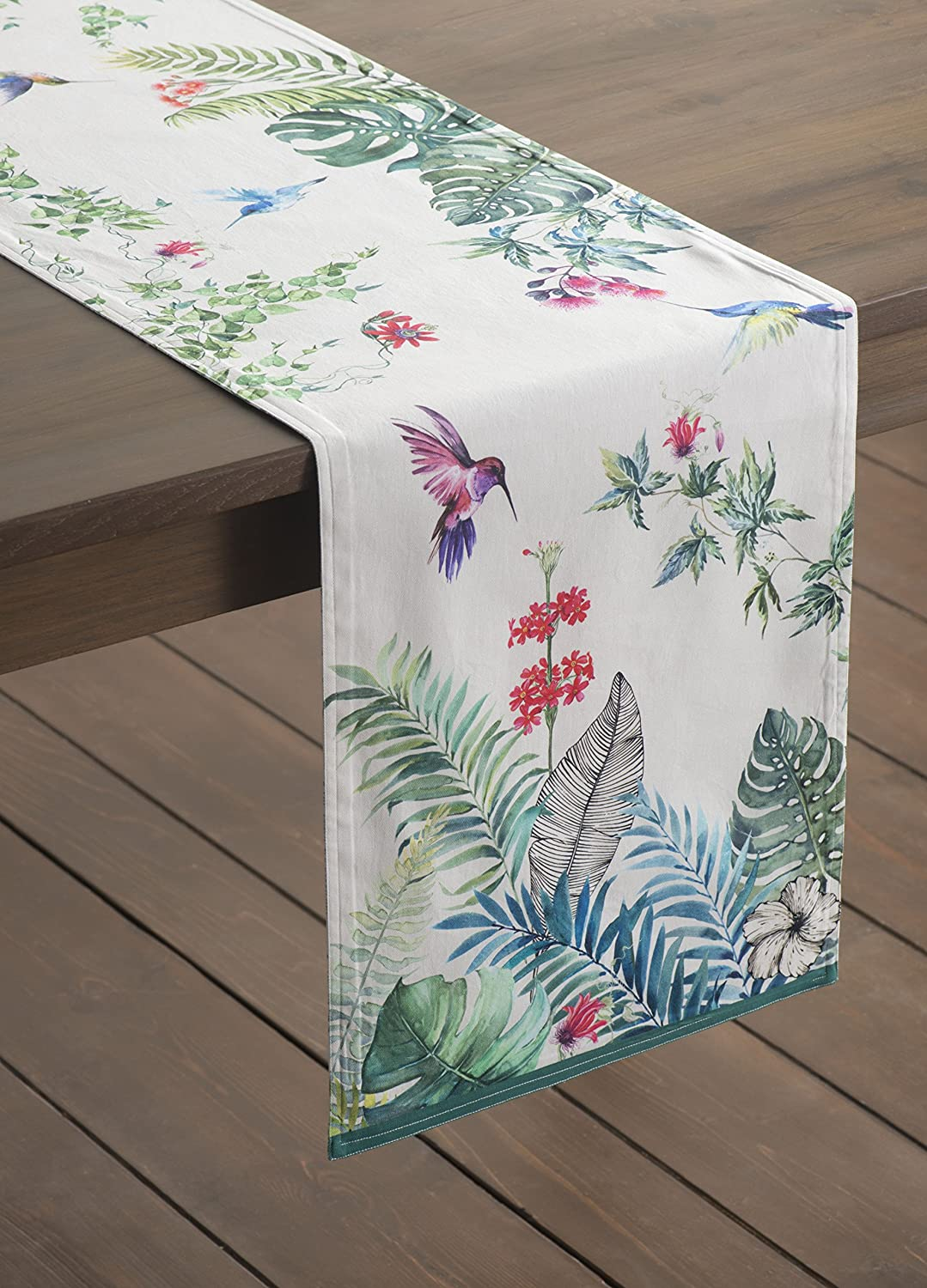 Maison d Hermine Tropiques 100/% Cotton Table Runner Double Layer 14.5 Inch by 72 Inch