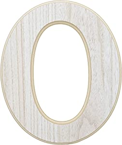 Wood Wall Decor, Wooden Letter O (12 in)
