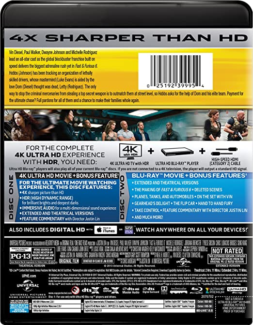 Amazon.com: Fast & Furious 6 [Blu-ray]: Vin Diesel, Paul ...