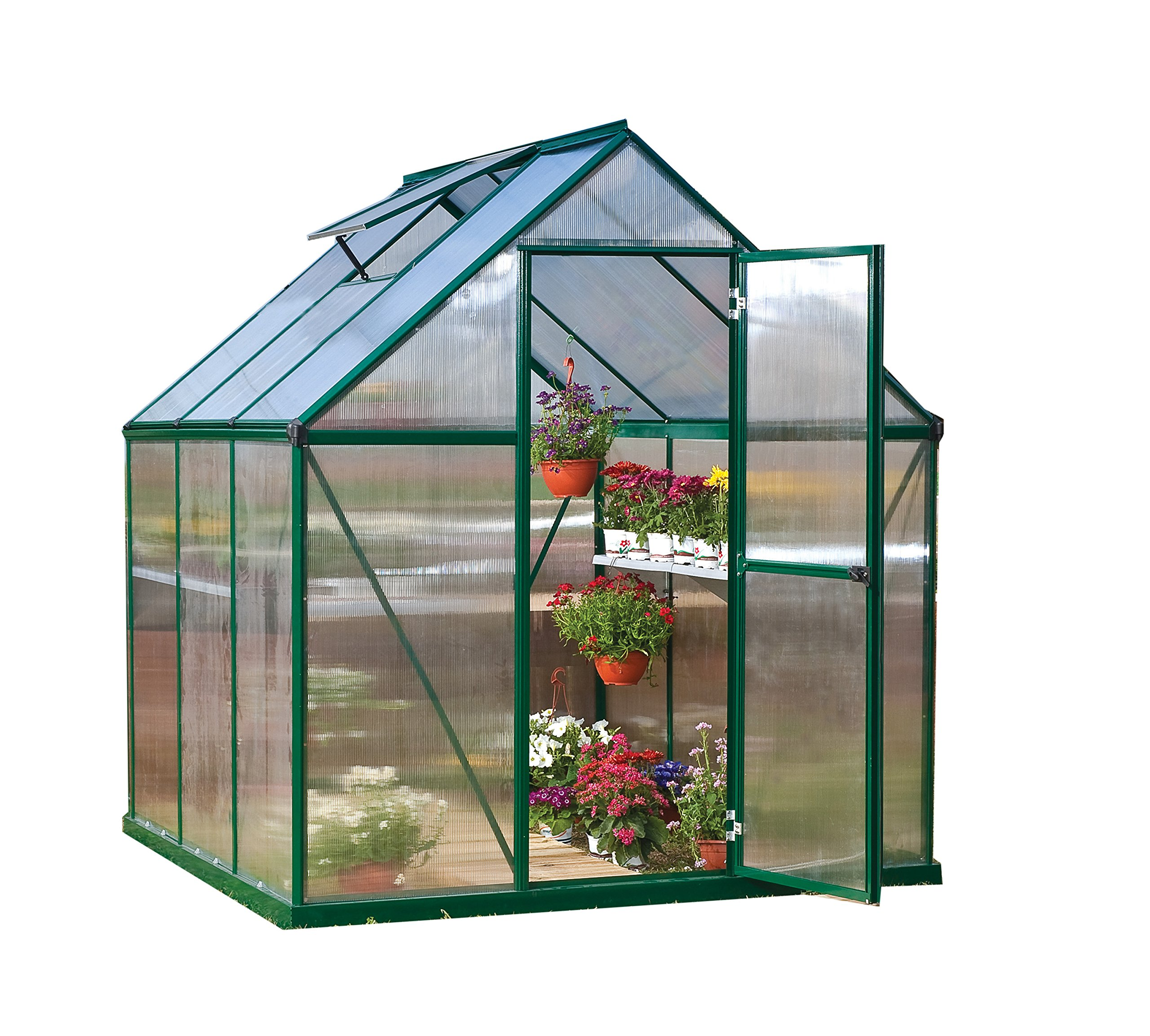 Palram Nature Series Mythos Hobby Greenhouse - 6' x 6' x 7', Forest Green by Palram