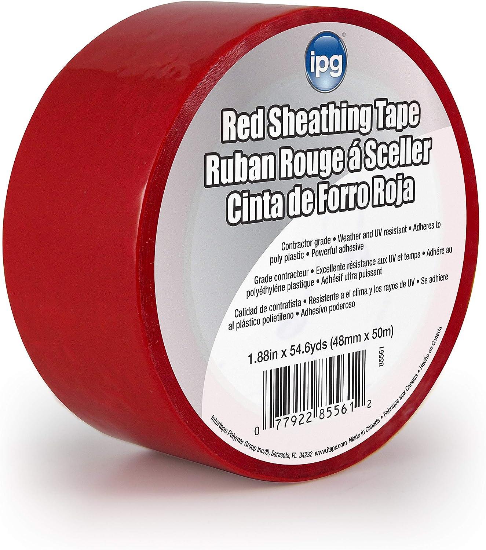 Intertape Polymer Group 85561 Sheathing Tape Red 1.88-Inch x 54.6-Yard