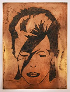 David Bowie Wall Art. Portrait, Music Lover Gift, Metal Artwork. A Groundbreaking New Way to Display Your Preferred Art on Brass or Copper. Bar, Restaurant Decor, Poster, Man Cave