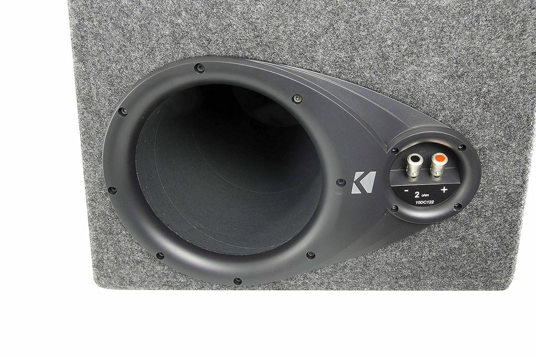 Kicker Dc122 Dual 12 600w Car Subwoofers Box 1500w 2002 Jeep Liberty Subwoofer Enclosure Mono Amp 4 Ga Kit Electronics