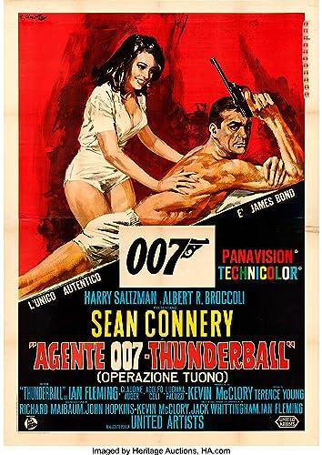 Thunderball James Bond 007 Movie Poster Sean Connery Canvas Art Print