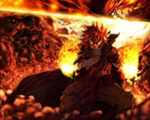 Superior Posters Fairy Tail Poster Natsu Anime Japanese Wall Print Art Decoration Home Decor 16x20