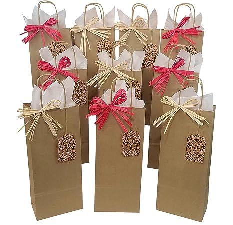 baglove - Boutique vino bolsas de regalo. Juego de 10 con ...