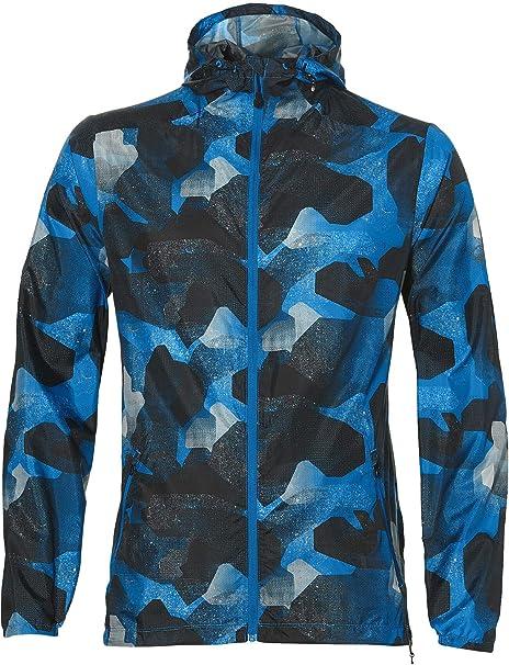 ASICS fuzeX Packable Jacket Herren camo geo Directoire Blue