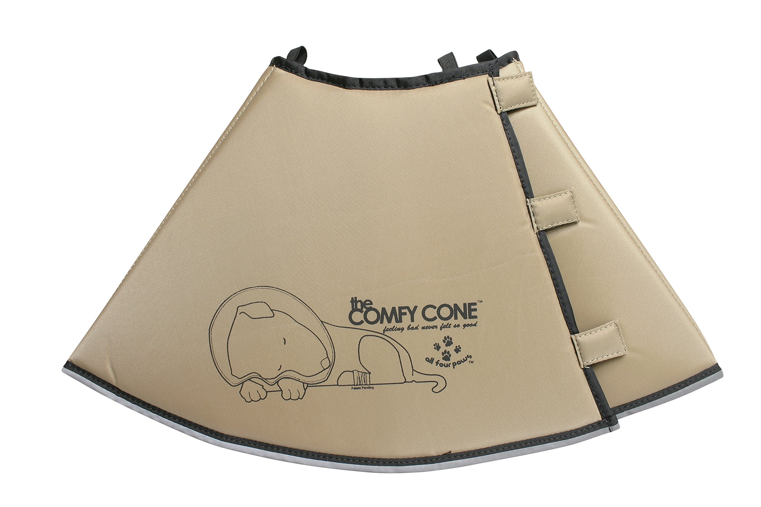All Four Paws The Comfy Cone Pet Recovery Collar Tan XLarge 30 cm