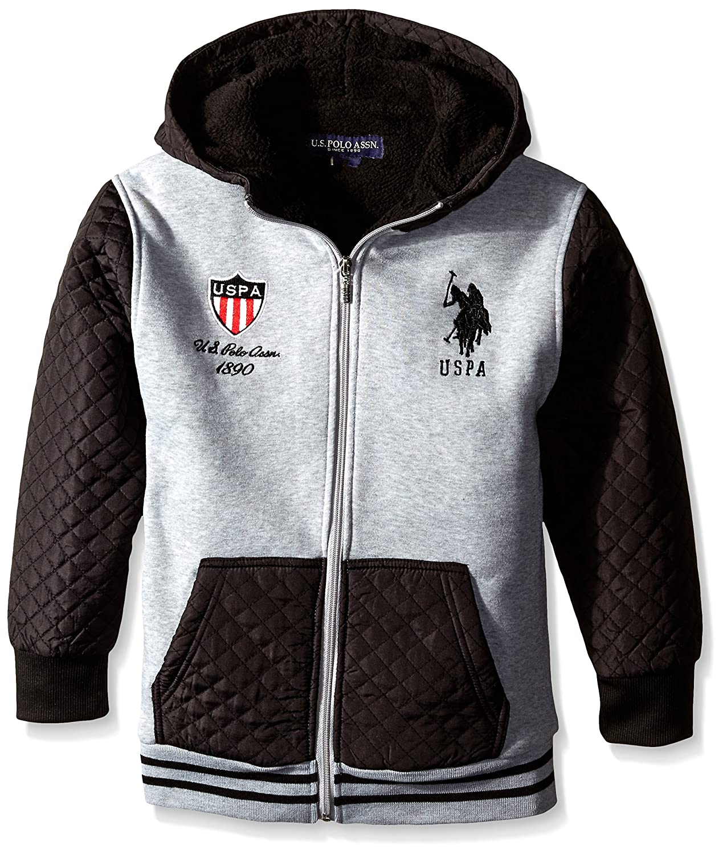 US Polo Assn - Chaqueta - para niño Gris/Negro Large: Amazon.es ...