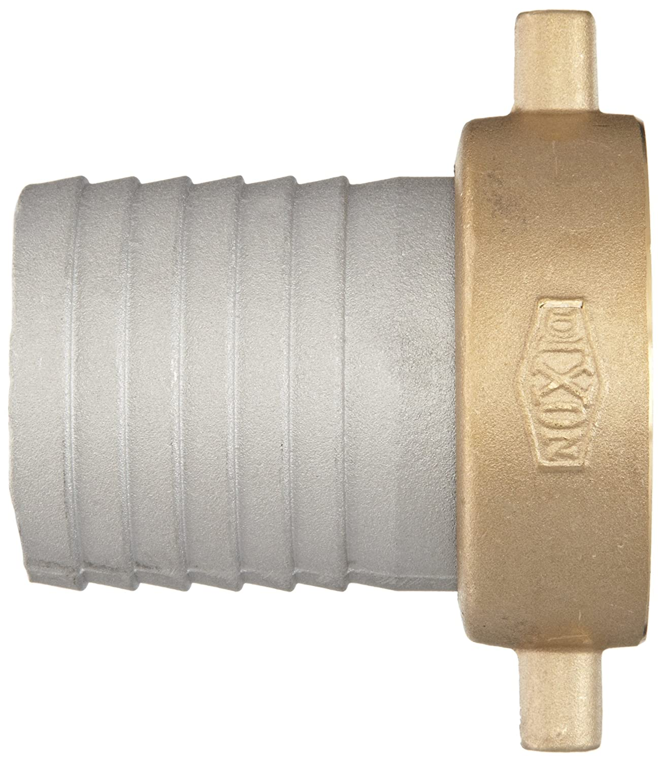 Dixon FAB200 Aluminum Hose Fitting King Short Shank Suction Coupling with Brass Nut 2 NPSM Female x 2 Hose ID Barbed 2 NPSM Female x 2 Hose ID Barbed Dixon Valve /& Coupling