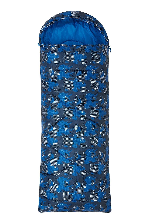 Mountain Warehouse Saco de Dormir Estampado Apex Mini- Saco de Dormir Tipo Momia, Ligero, Saco de Dormir para Exteriores con Aislamiento térmico de Fibras Huecas Mint Talla única 022543206001