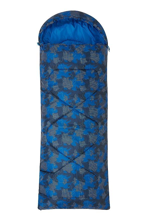 Mountain Warehouse Saco de Dormir Estampado Apex Mini- Saco de Dormir Tipo Momia, Ligero, Saco de Dormir para Exteriores con Aislamiento térmico de Fibras ...