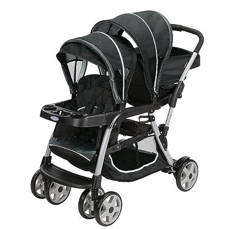 Graco Ready2Grow LX Double Stroller | Lightweight Double Stroller, Gotham