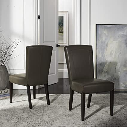 Safavieh Hudson Collection Greenwich Marbled Leather Side Chairs Clay Set Of 2