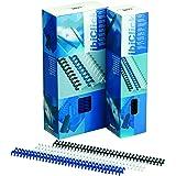 GBC ClickBind Lot de 50 Reliures spirale plastique Format A4 Capacité 95 Pages 12mm Noir