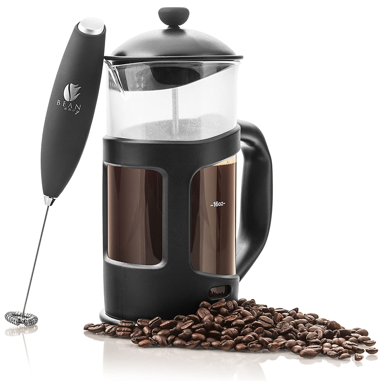 Bed bath beyond french press - Amazon Com Bean Envy 34 Oz French Press Coffee Espresso And Tea Maker Premium Bundle Includes Electric Milk Frother Best Press For 1 3