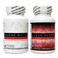 Luxxe White Enhanced Glutathione bundle with Luxxe Renew 8 Berry Extract (2 items)