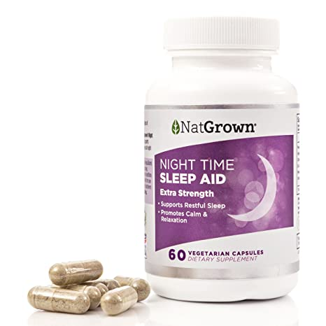 Amazon.com: Natural Sleep Aid for Adults - With Melatonin 5mg, Valerian Root Extract, Passion Flower & More. For Deep, Restful Sleep: Health & Personal Care