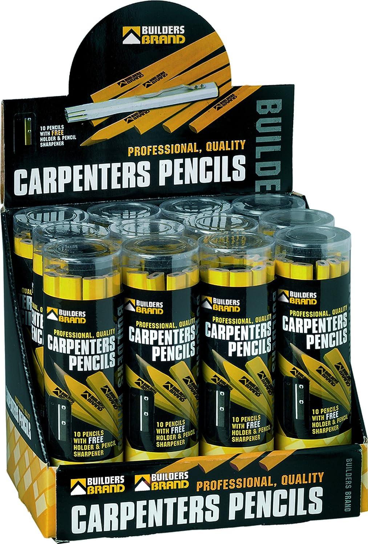 Builders Brand 1CARPPENCIL Lot de 10 crayons de charpentier