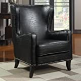 Coaster Home Furnishings Transitional Accent Chair, Black