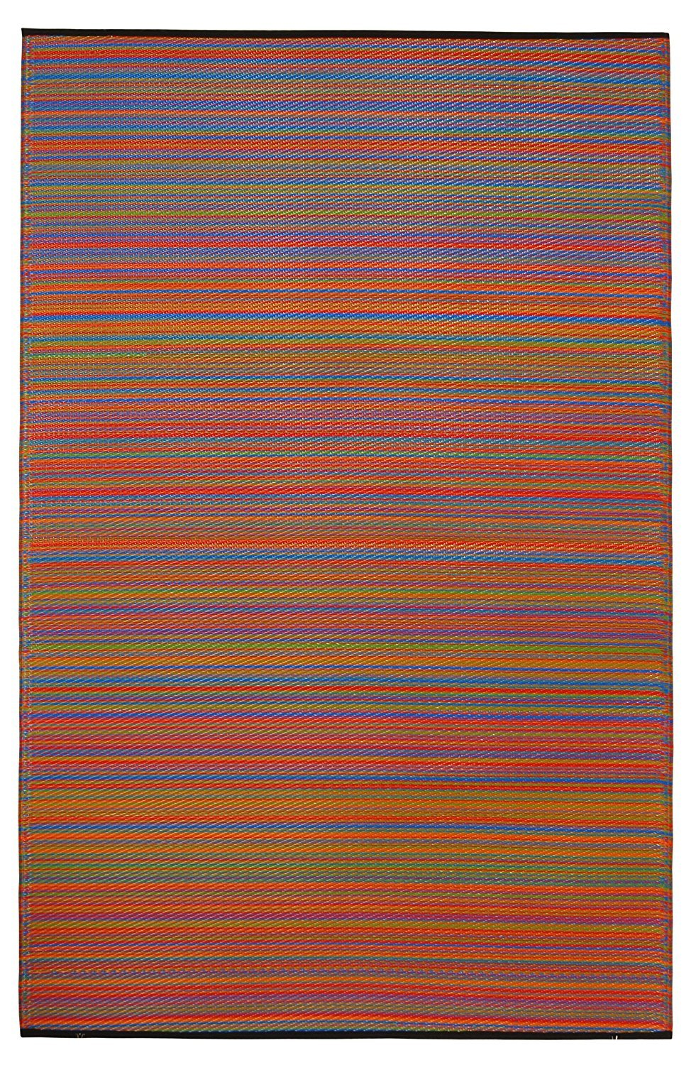 Fab Habitat Reversible Rugs | Indoor or Outdoor Use | Stain Resistant, Easy to Clean Weather Resistant Floor Mats | Cancun - Multicolor, (8' x 10')