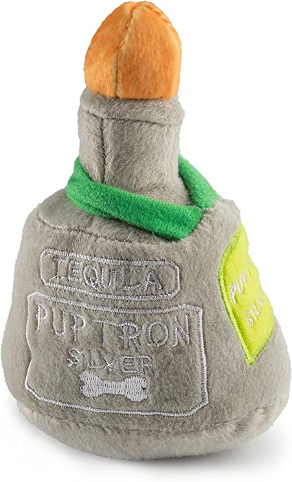 Blue Sound Plush Toys Wine Bottle Shaped Pet Toy