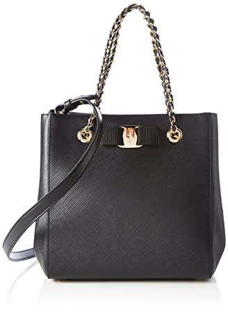 95aaacfab1 Amazon.com  Salvatore Ferragamo Women s Vany Small Vara Bow Shoulder ...