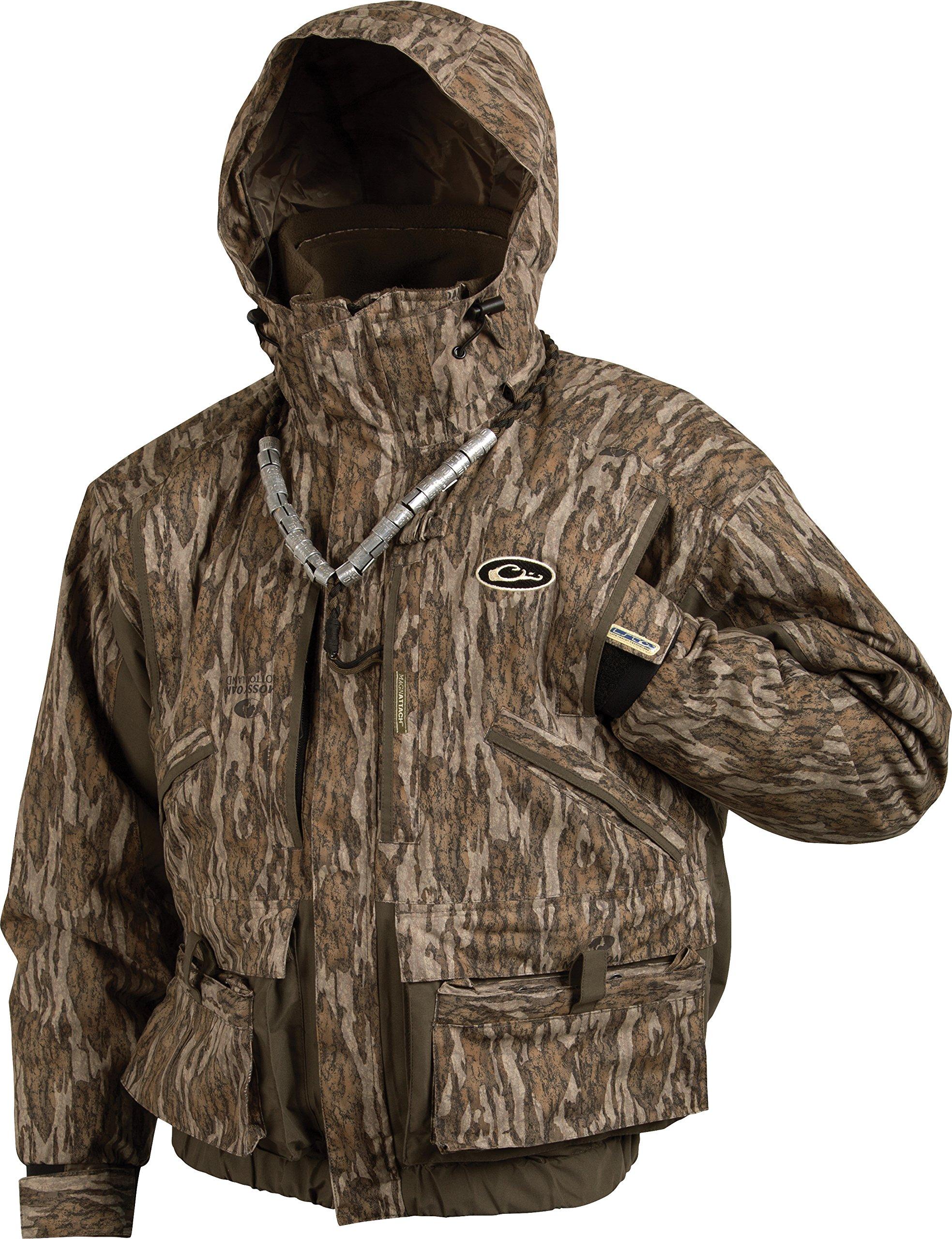 Drake Boy's LST Eqwader 3-in-1 Plus 2 Wader Coat 2.0 (Large, Mossy Oak Bottomland)