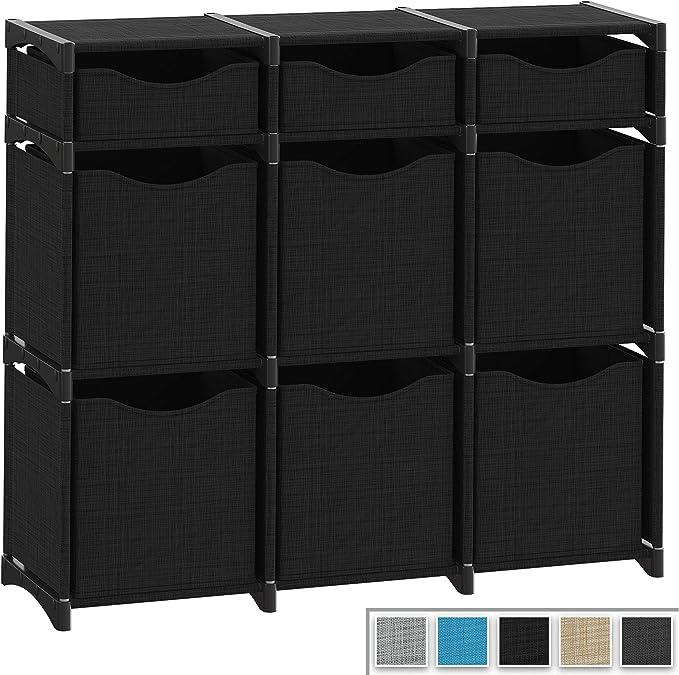 Organizador de cubos Neaterize | Juego de cubos de almacenamiento incluidos | cubos organizadores de armarios para bricolaje | organizador de cubos y estantes de almacenamiento | organizador de armario para dormitorio,