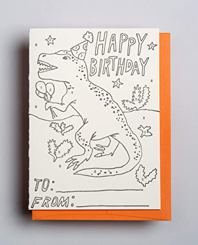 Amazon T Rex Color By Number Birthday